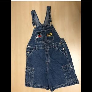 VINTAGE CHILDREN'S LOONEY TUNES COVERALLS SHORTS